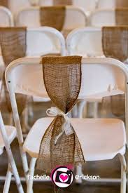 burlap chair sash burlap chair sash for back row of ceremony chairs idea for
