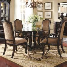 dining round glass dining table with wooden base tray ceiling