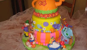 alice in wonderland mad hatter tea party cake cakecentral com