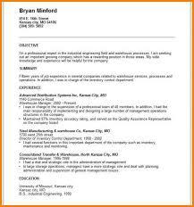 Resume Samples For Warehouse Jobs Warehouse Job Objective Cbshow Co