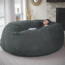 the chill bag is a giant bean bag that measures eight feet long in diameter