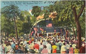 Map St Petersburg Florida by Enjoying Open Air Band Concert In Williams Park St Petersburg