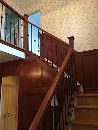 Box Stairs Design Capping Refacing Box Stair New Stringers Solid Oak Stain