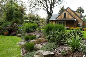Steep Sloped Backyard Ideas by Rotorua Landscape Design Michelle Young Landscapes Ltd