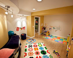 carpet for basement playroom stained blue concrete basement