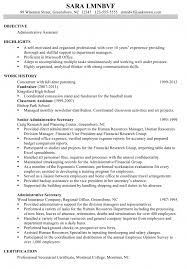 Sample Resume Administrative Assistant Cover Letter Resume Template Administrative Assistant Sample