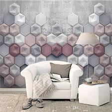 wallpaper livingroom living room 3d wallpaper geometry abstract murals modern sofa tv