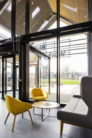 naughtone canary yellow always chairs with trace table and hush naughtone canary yellow always chairs with trace table and hush sofa gorgeous atrium interior funiture pinterest interiors workspaces and