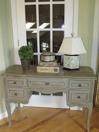 antique desk painted with annie sloan chalk paint color paris grey
