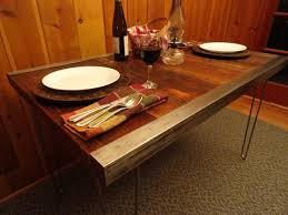30 x 48 dining table industrial dining table with raw steel trim and hairpin legs 30 x 48