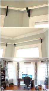 Where To Hang Curtain Rods Hang Curtains Up To The Ceiling To Make A Low Ceiling Look Taller