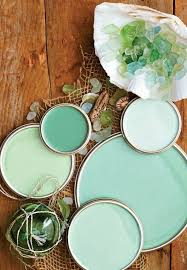 coastal paint color schemes inspired from the beach green color