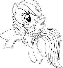 rainbow dash coloring pages for kids coloringstar