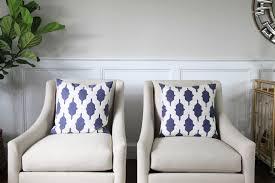 formal living room lemon stripes