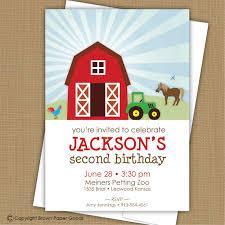 farm birthday invitation barnyard invitation