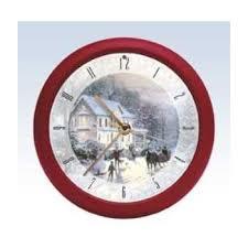 kinkade carol wall clock