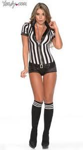 Female Football Halloween Costume Referee Costume Halloween Referee Costume