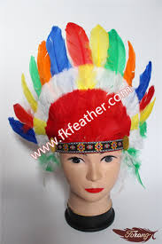 turkey feather headband turkey feather and goose feather decoration colorful carnival