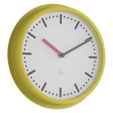 Habitat Home Decor yellow wall clock uk acctim 27371 lorene wall clock yellow kitchen