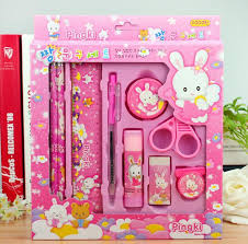 wholesale stationery 2018 wholesale kawaii stationery set for kids pencil for