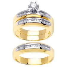 wedding ring depot 1 45ct tcw 14k two tone gold trio ring set 9003354 shop at