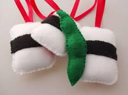 sushi handmade felt christmas ornaments set of 4 danielle london