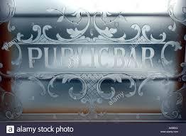 glass door bar victorian etched glass door on the public bar of the swan pub in