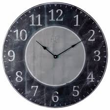 distressed gray and black wall clock ldist bw 22