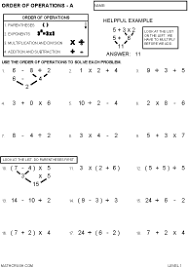 Order Of Operations Worksheet Answers Order Of Operations Worksheets By Math Crush