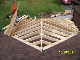 Irregular Hip Roof Framing How To Build A Roof Over A Deck Decking Spring And Porch