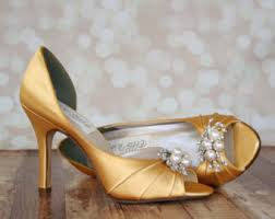 wedding shoes gold color gold wedding shoes etsy