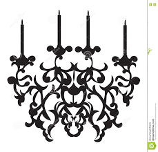 Classic Chandelier by Baroque Classic Chandelier On White Background Stock Vector