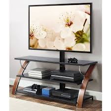 walmart tv table stand whalen brown cherry 3 in 1 flat panel tv stand for tvs up to 65