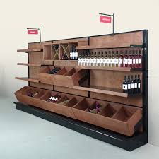 gondola wall shelving liquor store supply wine display rack