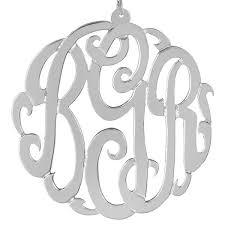 Sterling Silver Monogram Bracelet Sterling Silver Monogram Necklaces Monogram Jewelry Be Monogrammed