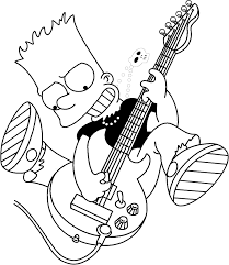 simpsons coloring pages bart simpson coloring pages cool