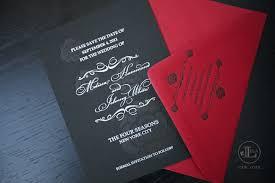 and black wedding invitations new york luxury wedding invitations