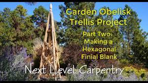 garden obelisk trellis part 2 making finial blanks youtube