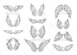 best photos of printable cupid wings wings drawings