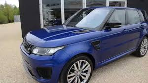 range rover sport blue land rover range rover sport svr carbon on stock b245 am 02 05