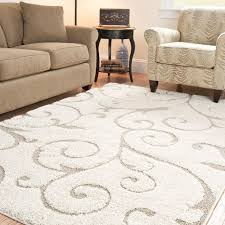 12x12 Area Rugs Add A Touch Of Casual Design With This Ivory And Power
