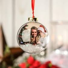express 80mm acrylic photo ornament 80 mm clear