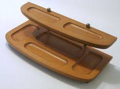 vintage milbern expandable wooden buffet organizer by my3luvbugs