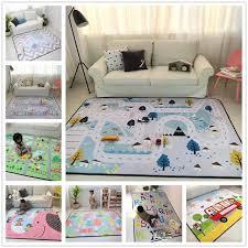 tapis chambre enfants 150x200 cm épais bande dessinée tapis pour salon doux tapis pour