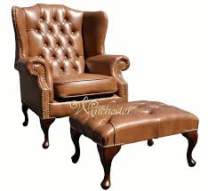 Traditional Leather Armchairs Uk Chesterfield Mallory High Back Wing Chair Uk Manufactured Old