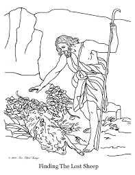 100 the good shepherd coloring page christian kids actives