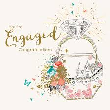Congratulations On Engagement Card Engagement Card Lola Design Ltd Greeting Cards Art Gifts