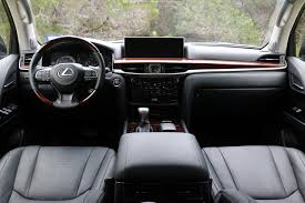 lexus lx 570 black interior 2016 lexus lx 570 test drive review autonation drive automotive blog