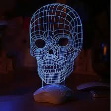 Led Lights For Home Decoration 3d Visualization Led Light Jvr Lh46 Skull Shape Optical Illusion