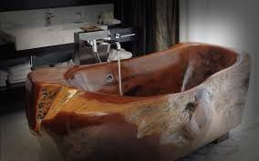 15 awe inspiring bathrooms with wooden bathtub rilane